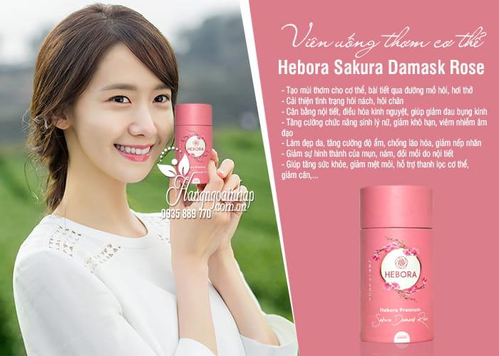 Viên uống thơm cơ thể Hebora Sakura Damask Rose Nhật 60 viên 4