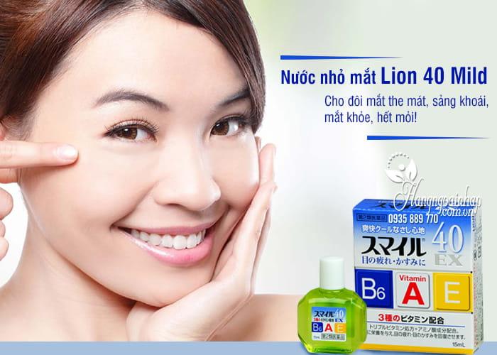 Nước nhỏ mắt Lion 40 Mild Nhật Bản chai 15ml 1