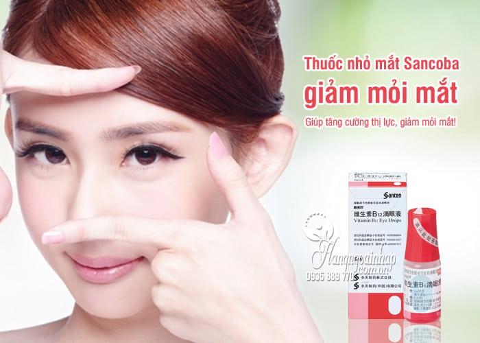 Thuốc nhỏ mắt Sancoba 5ml Nhật Bản, giảm mỏi mắt 7
