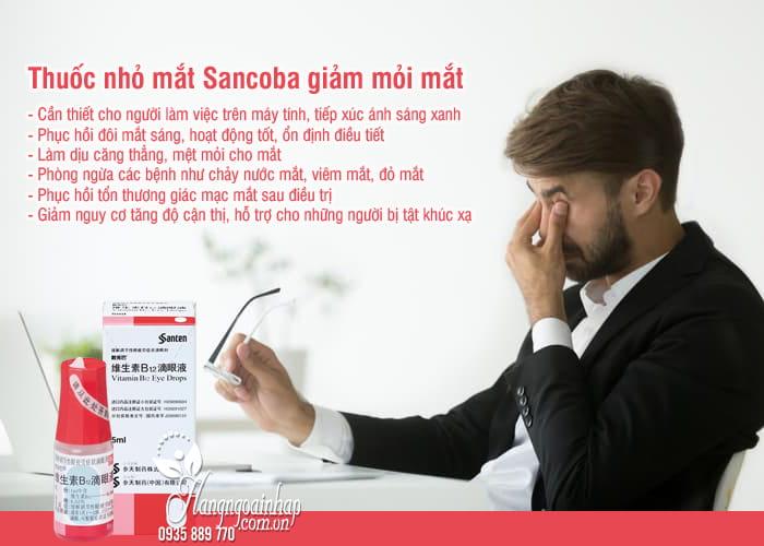 Thuốc nhỏ mắt Sancoba 5ml Nhật Bản, giảm mỏi mắt 3
