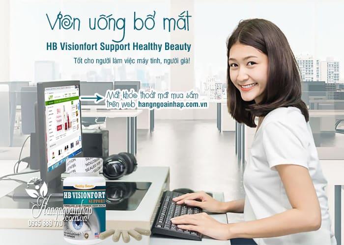 Viên uống bổ mắt HB Visionfort Support Healthy Beauty Mỹ 1