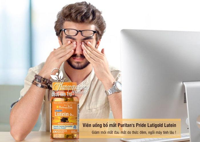 Viên uống bổ mắt Puritan's Pride Lutigold Lutein 6mg 100 viên của Mỹ 1