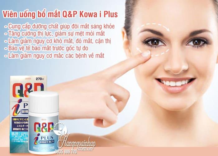 Viên uống bổ mắt Q&P Kowa i Plus chính hãng Nhật Bản, giá tốt 2