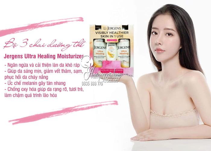 Bộ 3 chai dưỡng thể Jergens Ultra Healing Moisturizer của Mỹ 7