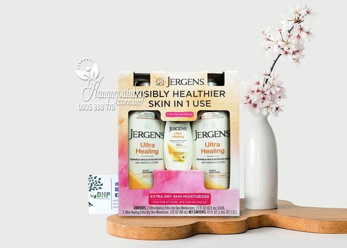 Bộ 3 chai dưỡng thể Jergens Ultra Healing Moisturizer của Mỹ 9