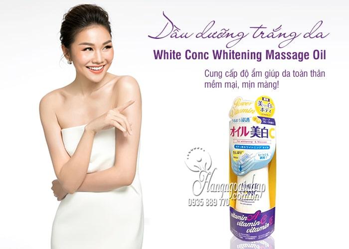Dầu dưỡng trắng da White Conc Whitening Massage Oil 1