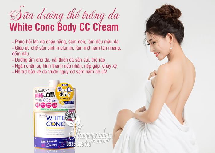 Sữa dưỡng thể trắng da White Conc Body CC Cream Nhật Bản 3