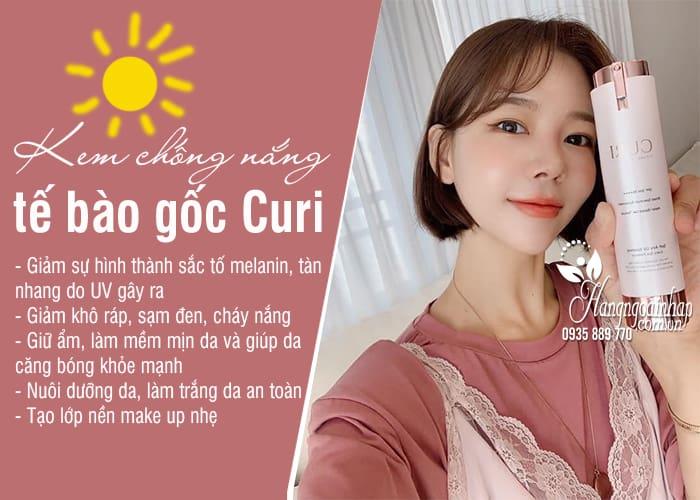Kem chống nắng Curi Hàn Quốc - Chống nắng tế bào gốcthế hệ mới 3