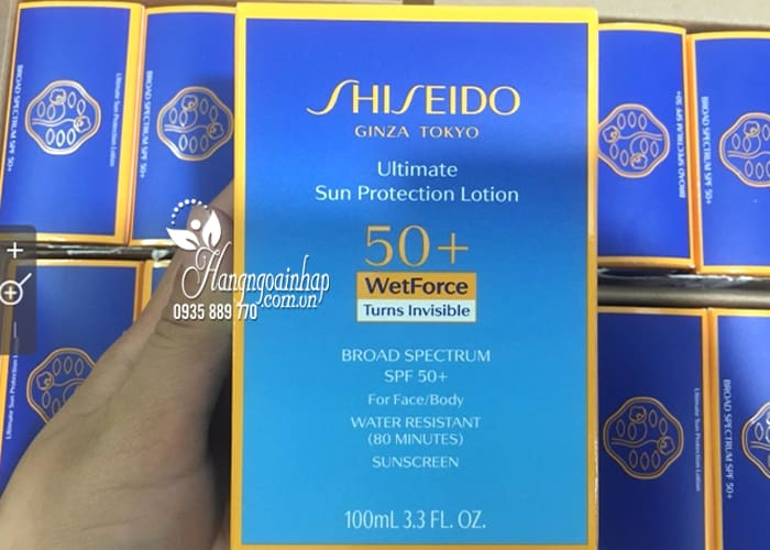 Kem chống nắng Shiseido Ultimate Sun Protection Lotion 100ml  9