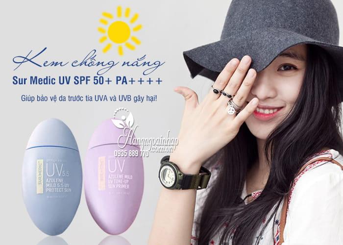 Kem chống nắng Sur Medic UV SPF 50+ PA++++ đủ 2 màu 1