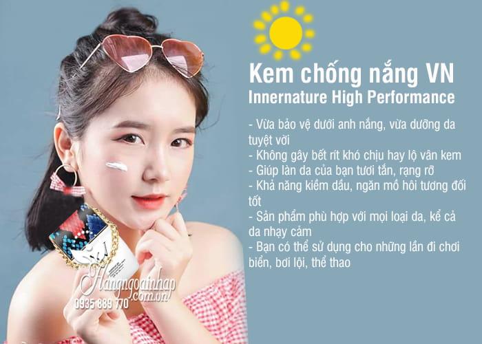 Kem chống nắng VN Innernature High Performance Hàn Quốc 7