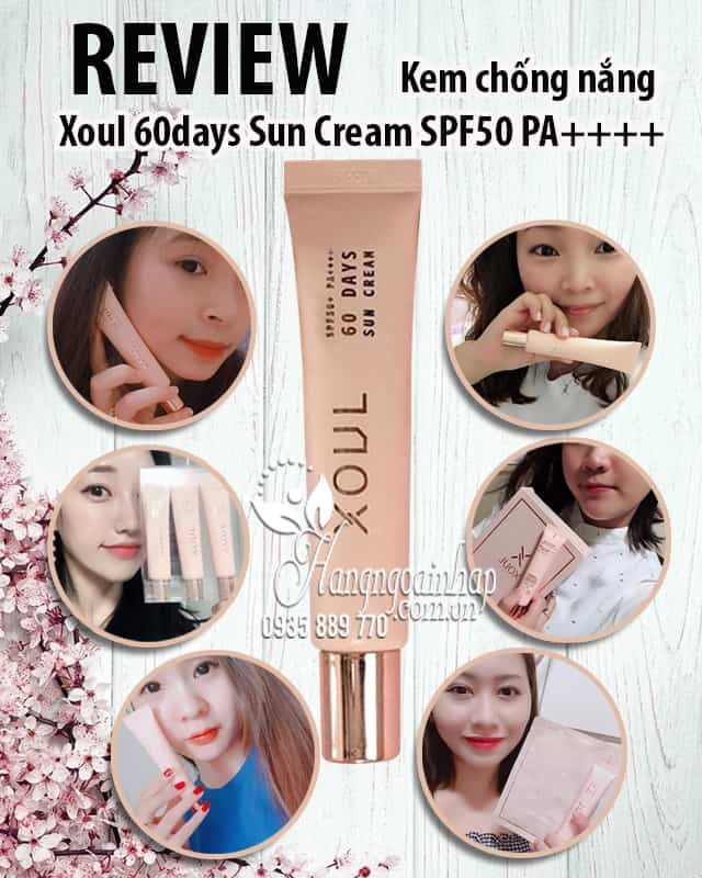 Kem chống nắng Xoul 60days Sun Cream SPF50 PA++++ Hàn Quốc 7