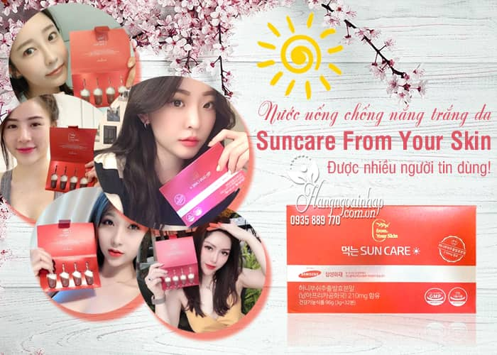 Nước uống chống nắng trắng da Suncare From Your Skin 2