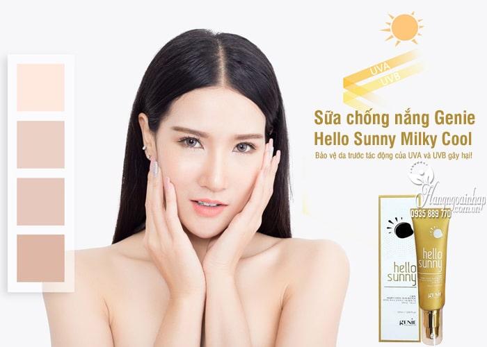 Sữa chống nắng Genie Hello Sunny Milky Cool 50ml Hàn Quốc 78