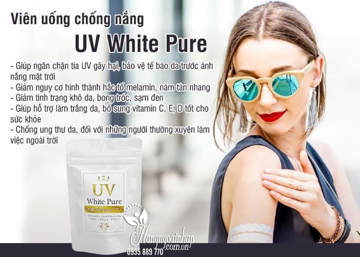 Viên uống chống nắng UV White Pure Nhật Bản gói 60 viên 1