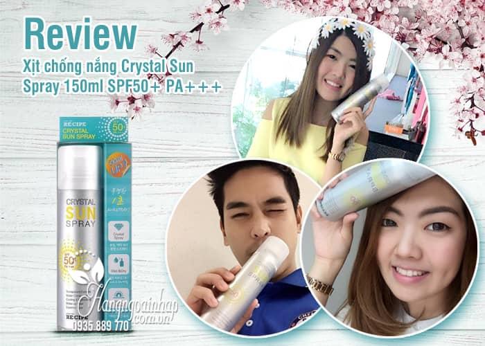 Xịt chống nắng Crystal Sun Spray 150ml SPF50+ PA+++ Hàn Quốc 1