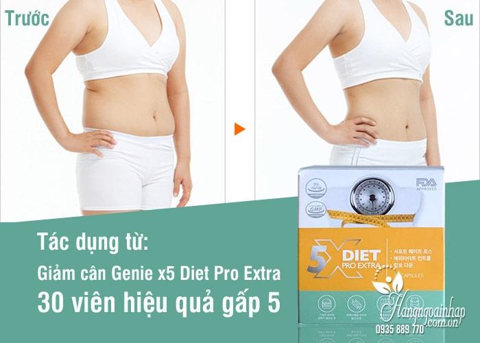 Giảm cân Genie x5 Diet Pro Extra 30 viên hiệu quả gấp 5 2