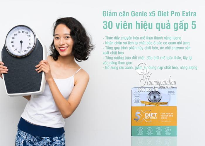 Giảm cân Genie x5 Diet Pro Extra 30 viên hiệu quả gấp 5 6