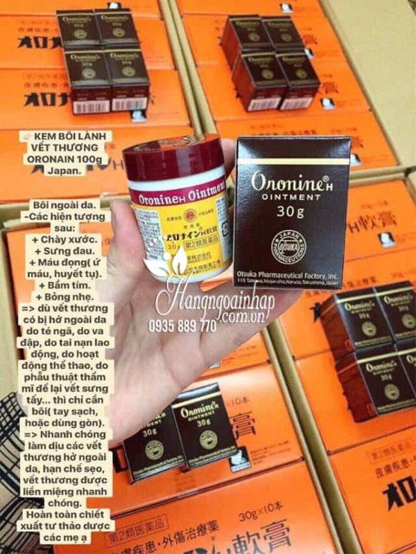 Kem bôi lành vết thương Oronine H Ointment Nhật Bản 8
