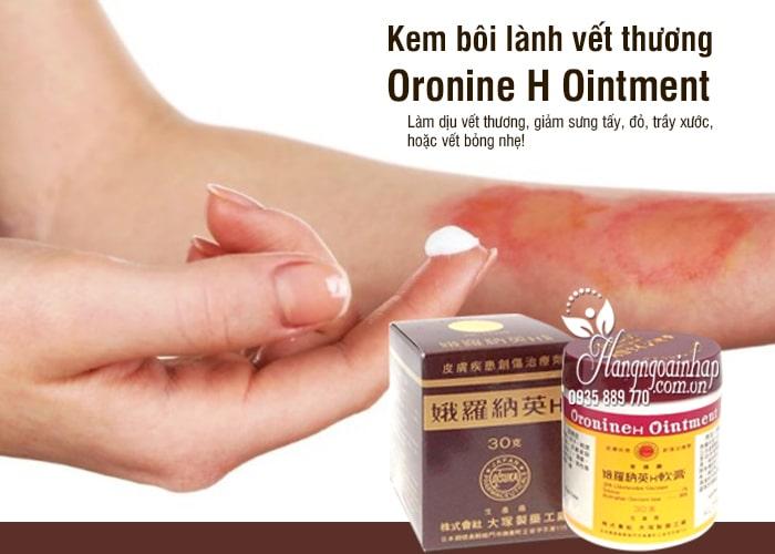 Kem bôi lành vết thương Oronine H Ointment Nhật Bản 1