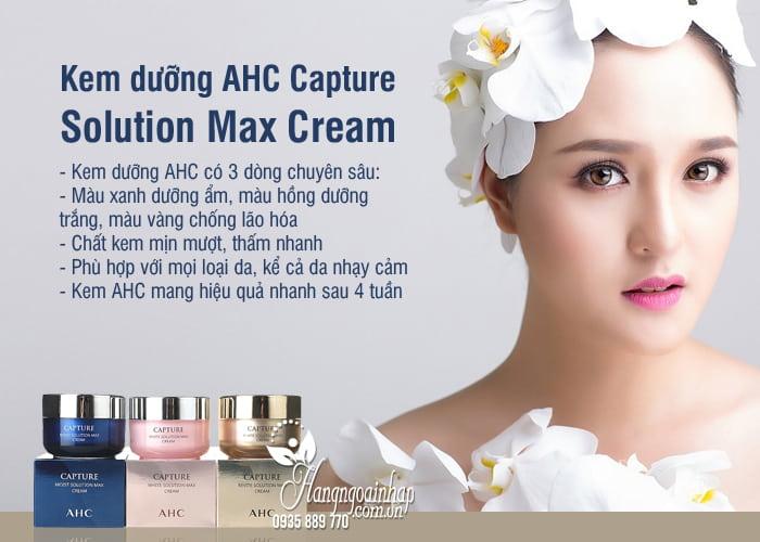 Kem dưỡng AHC Capture Solution Max Cream 50ml Hàn Quốc 7