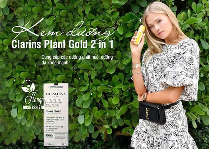 Kem dưỡng Clarins Plant Gold 2 in 1 của Pháp chai 35ml 1