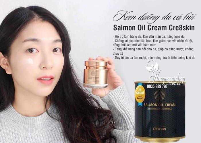 Kem dưỡng da cá hồi Salmon Oil Cream Cre8skin 80g 12
