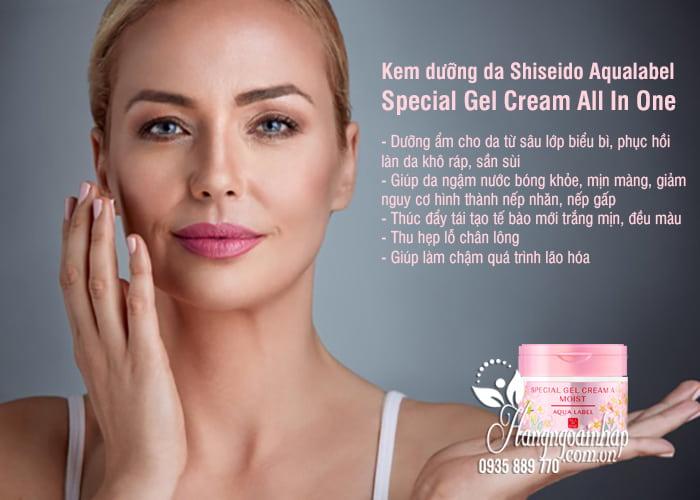 Kem dưỡng da Shiseido Aqualabel Special Gel Cream All In One 2