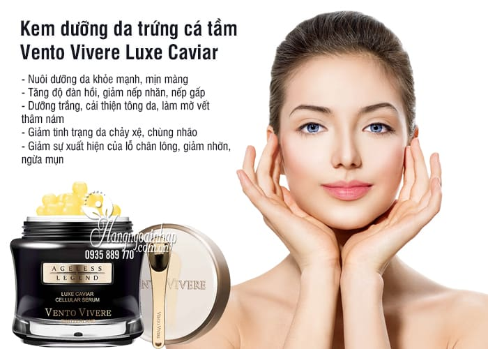 Kem dưỡng da trứng cá tầm Vento Vivere Luxe Caviar 30g Thụy Sĩ 1