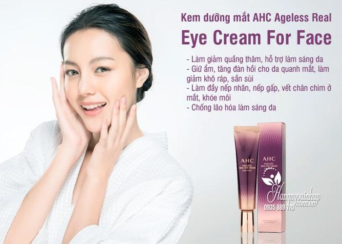 Kem dưỡng mắt AHC Ageless Real Eye Cream For Face 12ml 3