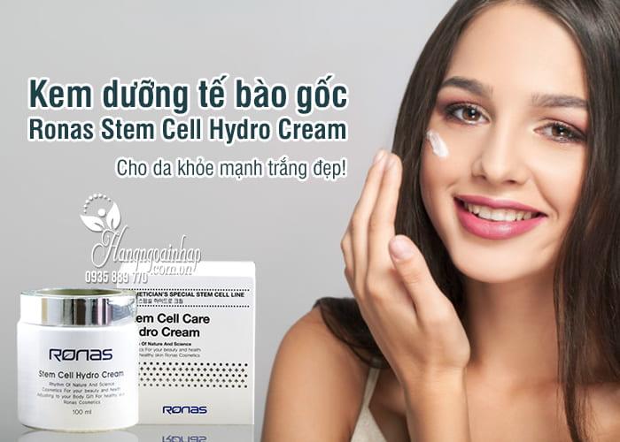 Kem dưỡng tế bào gốc Ronas Stem Cell Hydro Cream 100ml 1