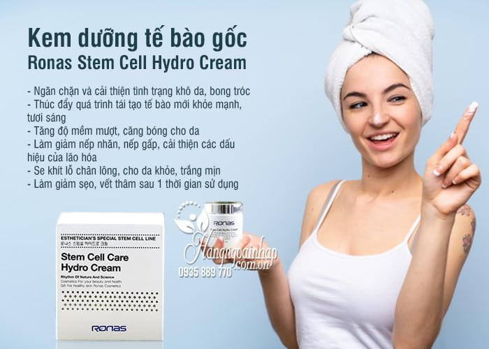 Kem dưỡng tế bào gốc Ronas Stem Cell Hydro Cream 100ml 3