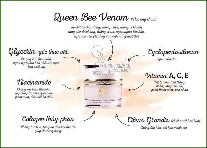 Kem dưỡng trắng Be'Pos Aqua Whitening Tone Up Cream 5