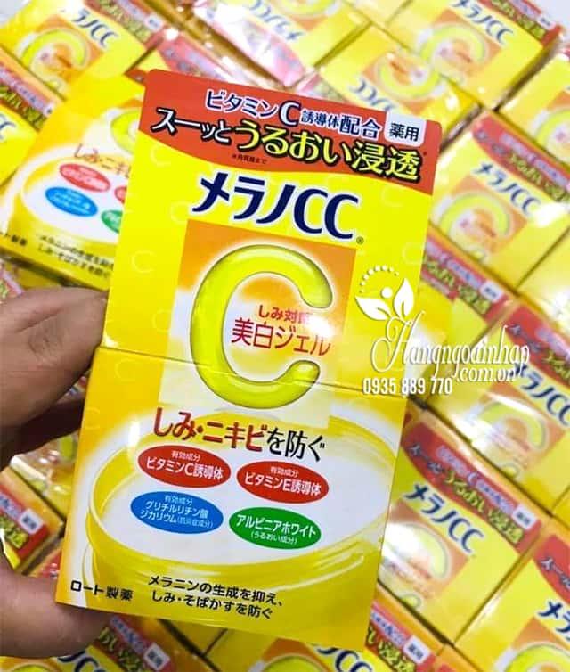 Kem dưỡng trắng da CC Melano Brightening Gel Rohto Nhật Bản 9