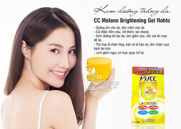 Kem dưỡng trắng da CC Melano Brightening Gel Rohto Nhật Bản 5