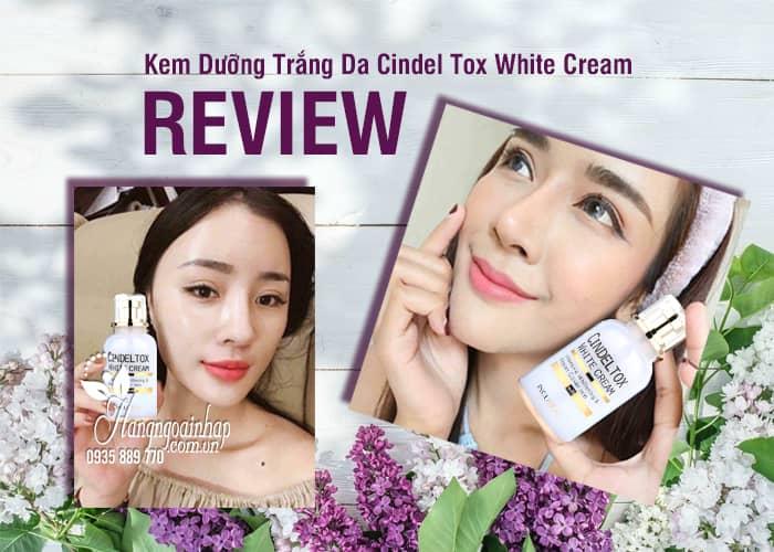 Kem dưỡng trắng Cindel Tox White Cream Incuheal 50ml Hàn 3