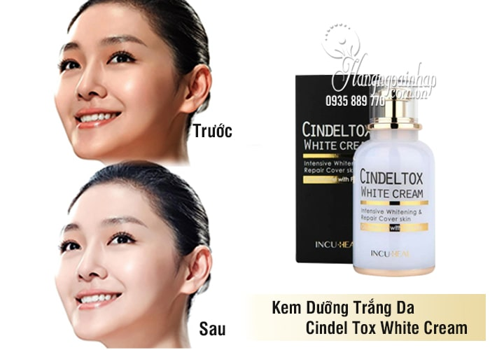 Kem dưỡng trắng Cindel Tox White Cream Incuheal 50ml Hàn 2