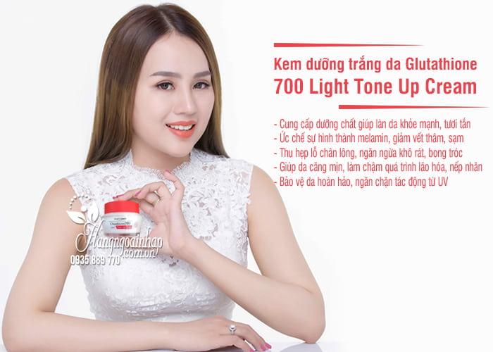 Kem dưỡng trắng da Glutathione 700 Light Tone Up Cream 6