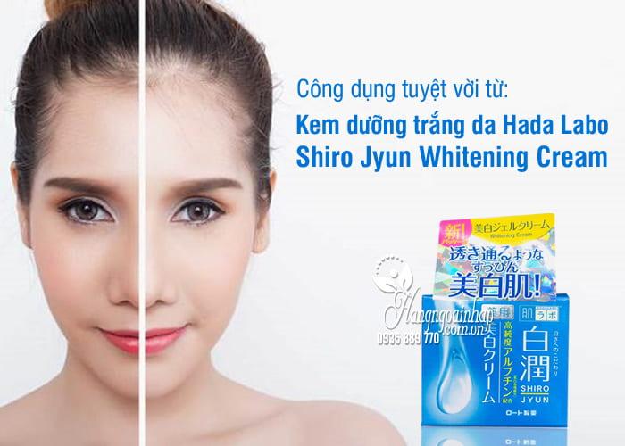 Kem dưỡng trắng da Hada Labo Shiro Jyun Whitening Cream 1