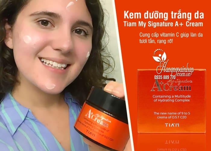 Kem dưỡng trắng da Tiam My Signature A+ Cream Hàn Quốc 8