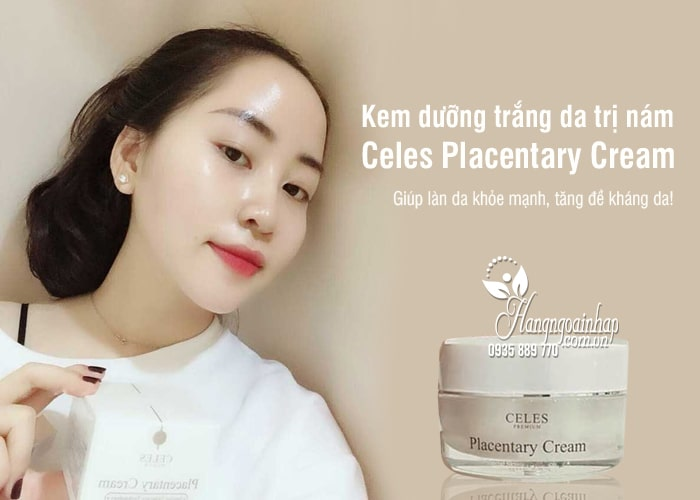 Kem dưỡng trắng da trị nám Celes Placentary Cream 50ml Hàn Quốc 0