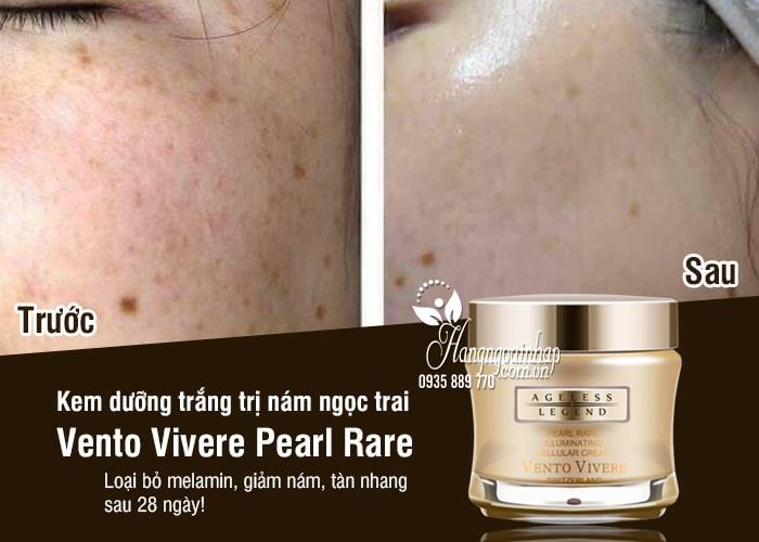 Kem dưỡng trắng trị nám ngọc trai Vento Vivere Pearl Rare 3