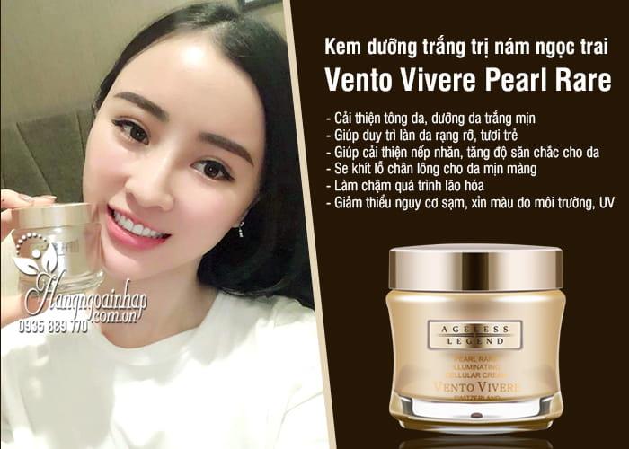 Kem dưỡng trắng trị nám ngọc trai Vento Vivere Pearl Rare 9