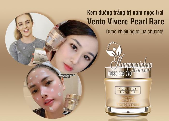 Kem dưỡng trắng trị nám ngọc trai Vento Vivere Pearl Rare 6