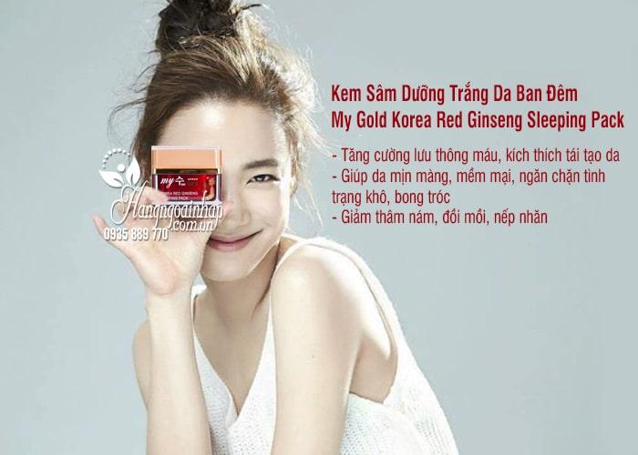 Kem Sâm Dưỡng Trắng Da Ban Đêm My Gold Korea Red Ginseng Sleeping Pack 2