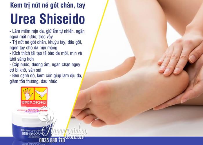 Kem trị nứt nẻ gót chân, tay Urea Shiseido hũ 100g Nhật Bản 5