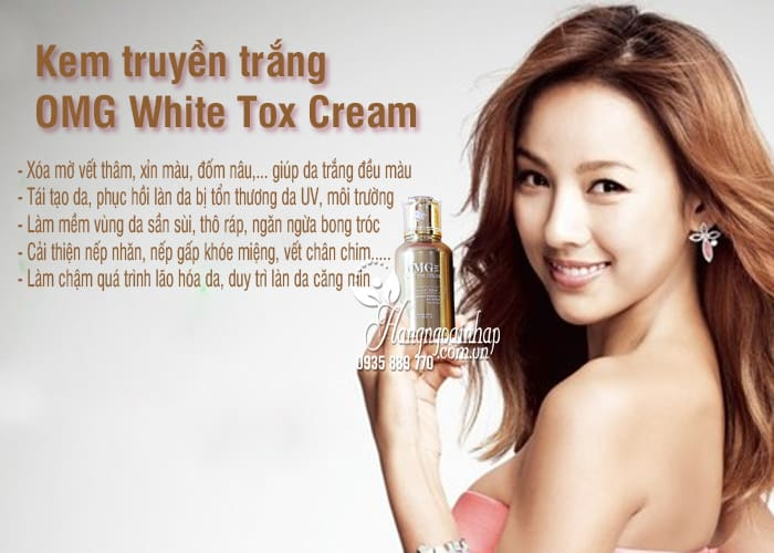Kem truyền trắng OMG White Tox Cream 50ml Hàn Quốc 12