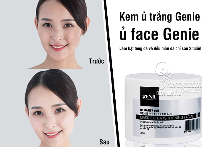 Kem ủ trắng Genie, ủ face Genie 250g Hàn Quốc 3
