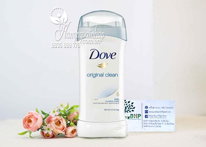 Lăn khử mùi Dove Original Clean 74g dạng sáp của Mỹ 5