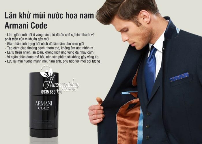 Lăn khử mùi nước hoa nam Armani Code 75g của Pháp 4